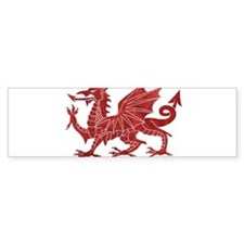 Welsh Red Dragon Bumper Bumper Sticker
