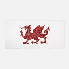Welsh Red Dragon Beach Towel