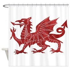 Welsh Red Dragon Shower Curtain