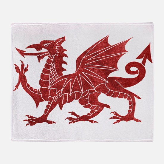 Welsh Red Dragon Throw Blanket
