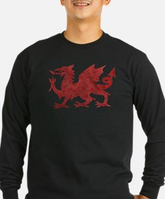 Welsh Red Dragon Long Sleeve T-Shirt