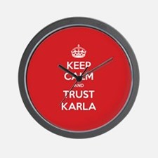 Trust Karla Wall Clock