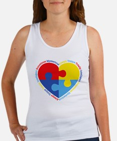 Autism Puzzle Heart Women's Tank Top
