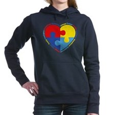 Autism Puzzle Heart Hooded Sweatshirt