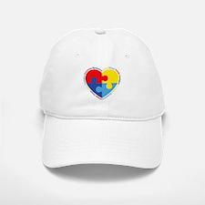 Autism Puzzle Heart Baseball Baseball Cap