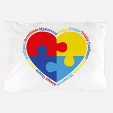 Autism Puzzle Heart Pillow Case