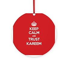 Trust Kareem Ornament (Round)