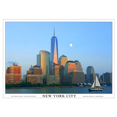 new york city skyline wall art poster. Black Bedroom Furniture Sets. Home Design Ideas