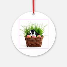 Easter Boston Terrier Dog Ornament (Round)
