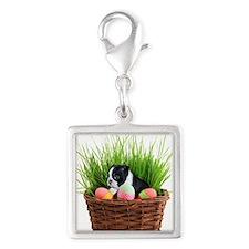 Easter Boston Terrier Dog Charms