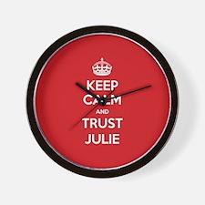 Trust Julie Wall Clock