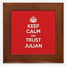 Trust Julian Framed Tile