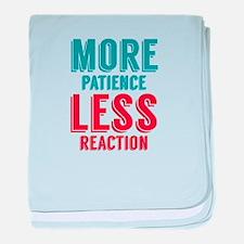 Patience Reaction baby blanket