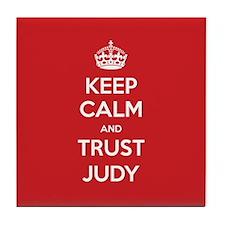 Trust Judy Tile Coaster