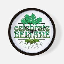 Celebrate Beltane Wall Clock