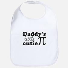 Daddys little cutie Pi Bib