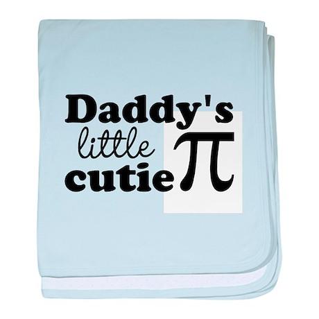 Daddys little cutie Pi baby blanket