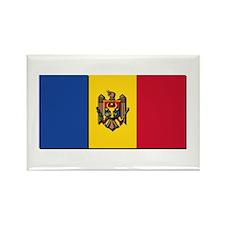 Flag of Moldova NO Txt Rectangle Magnet