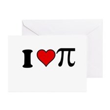 I Heart Pi Greeting Cards