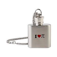 I Heart Pi Flask Necklace