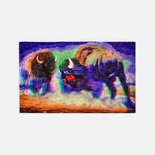 Rainbow Bison 3'x5' Area Rug