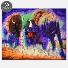 Rainbow Bison Puzzle