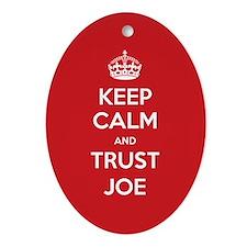 Trust Joe Ornament (Oval)