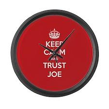Trust Joe Large Wall Clock