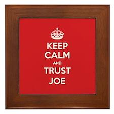 Trust Joe Framed Tile