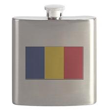 Romania Flag Flask