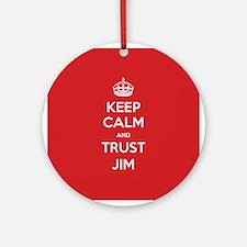 Trust Jim Ornament (Round)
