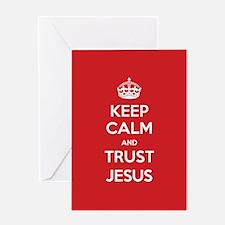 Trust Jesus Greeting Cards