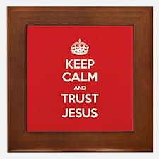 Trust Jesus Framed Tile