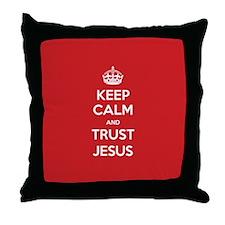 Trust Jesus Throw Pillow