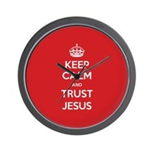 Trust Jesus Wall Clock