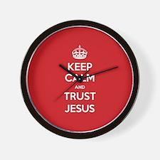 Trust Jesus Wall Clock