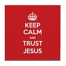 Trust Jesus Tile Coaster