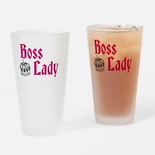 Boss Lady Drinking Glass