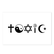 Religion Is Toxic Freethinker Postcards (Package o