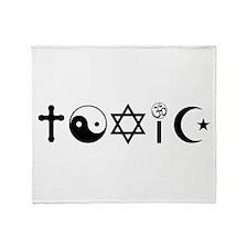 Religion Is Toxic Freethinker Throw Blanket