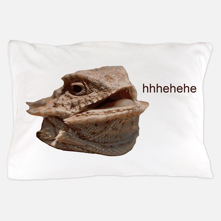 Laughing Iguana HeHe Lizard Pillow Case