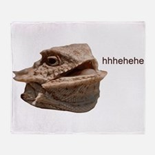 Laughing Iguana HeHe Lizard Throw Blanket