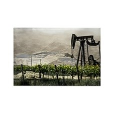 Oil and Wine Rectangle Magnet