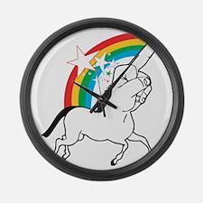 Unicorn meme Large Wall Clock