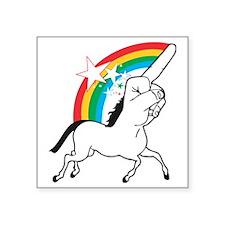 "Unicorn meme Square Sticker 3"" x 3"""
