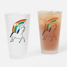Unicorn meme Drinking Glass