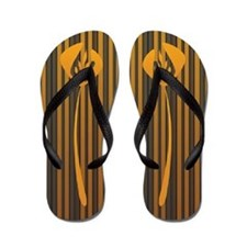 Art Deco Classic Orange Hot Summer Flip Flops
