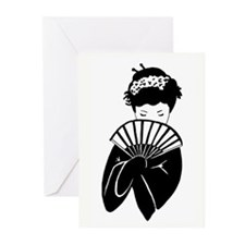 Geisha 2 Greeting Cards