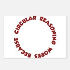 Circular Reasoning Works Because It Does Postcards