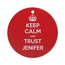 Trust Jenifer Ornament (Round)